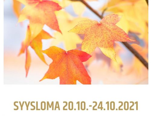 Syysloma 20.–24.10.2021